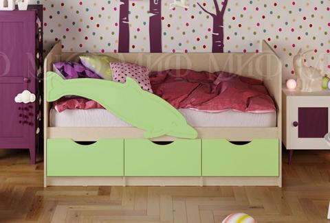 Кровать Дельфин-1 салатовый мат.