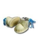 Сапожки из фетра на подкладке - Белый / голубой. Одежда для кукол, пупсов и мягких игрушек.