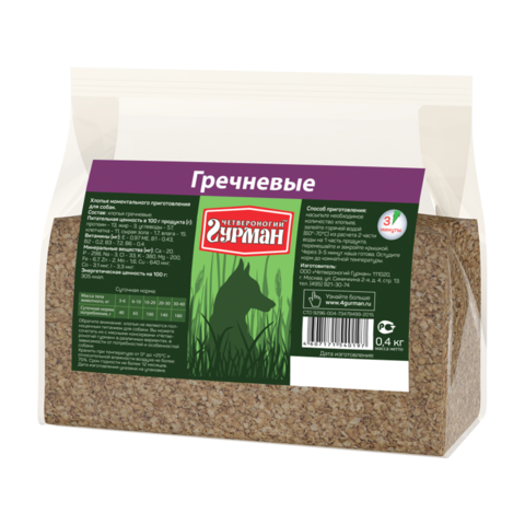 Четвероногий Гурман Каша для собак гречневая (пакет)