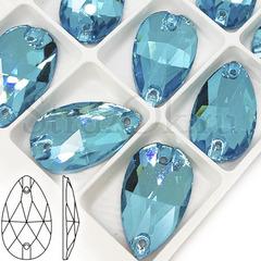 Купить бирюзовые пришивные стразы Aquamarine, Drope