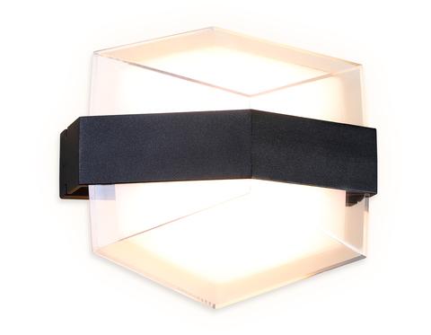 Настенный светодиодный светильник с высокой степенью защиты FW300 SBK черный песок LED 3000К 10W 185*170*100