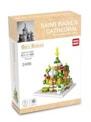 Конструктор Wisehawk собор Василия Блаженного 193 детали NO. 2496 Saint Basil's Cathedral Moscow Russia Gift Series