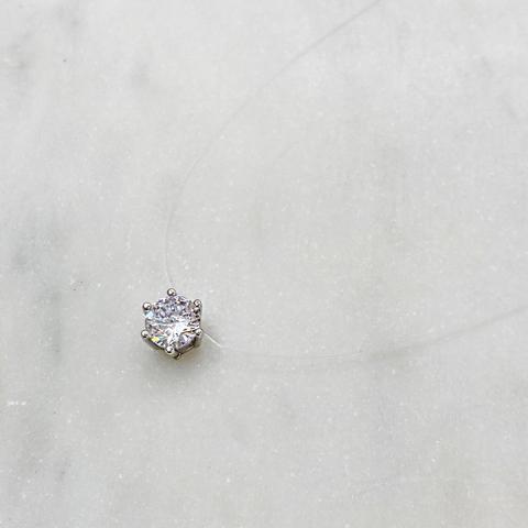 Подвеска на леске Циркон в 6ти закрепах (серебро 925)