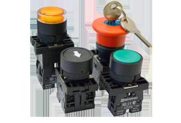 Кнопки, переключатели, лампы в пластиковом исполнении IP40 MTB2-Е