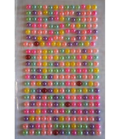 Стразы жемчуг d=5 мм разноцветные 260 шт