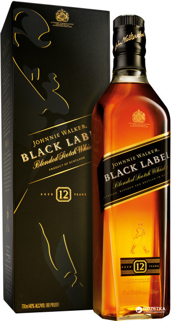 Віскі Johnnie Walker Black label 12 YO
