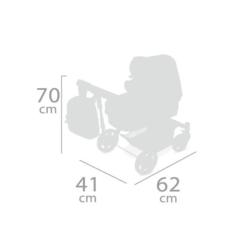 DeCuevas Коляска-трансформер для кукол 3 в 1 серии Скай 70см (80535)