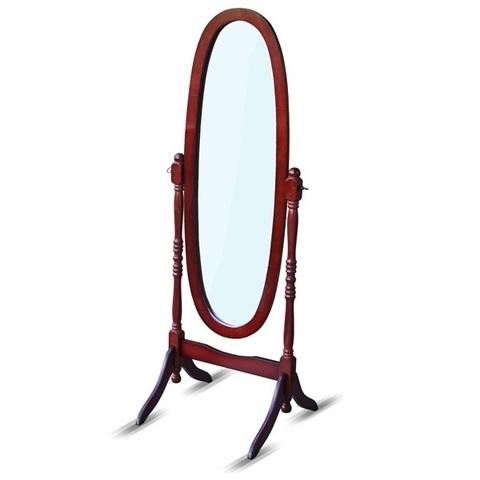 Зеркало напольное MS-8007-Ch овальное вишня