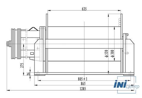 Компактная электрическая лебедка IDJ233-40-171-16 (3.8)
