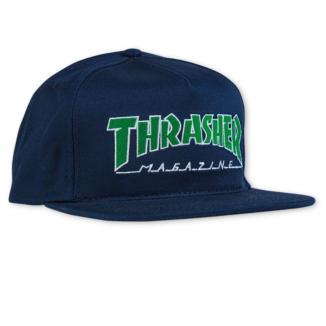 Кепка THRASHER Outlined Snapback (Navy)