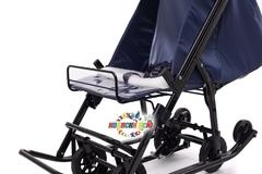 Санки коляска PIKATE Military «Синий»