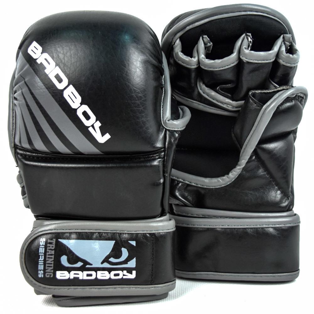 ММА перчатки Перчатки для ММА Bad Boy Training Series Impact Safety Black/Grey 1.jpg