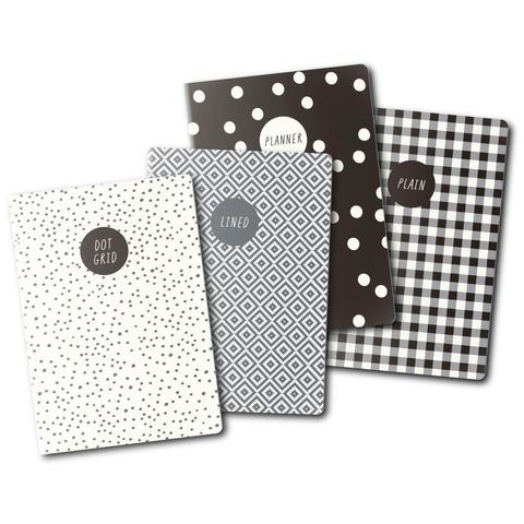 Блокноты для записи Carpe Diem A6 Notebooks-Monochrome - 10,5 х15 см/ 24л./4шт.