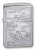 Зажигалка Zippo Row Boat с покрытием Brushed Chrome, латунь/сталь, серебристая, матовая