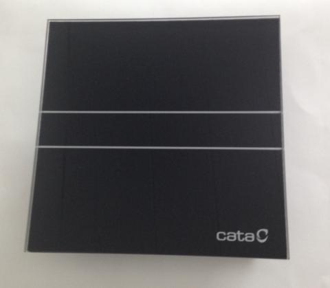 Накладной вентилятор Cata E 100 GT Bk черный (таймер) + обратный клапан