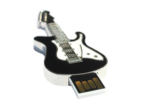 usb-флешка гитара металлическая