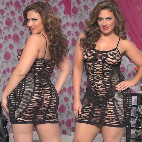 Черное платье из сетчатой ткани с ажурным плетением (BS)