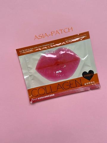 Увлажняющая коллагеновая маска-патчи для губ с экстрактом персика Images