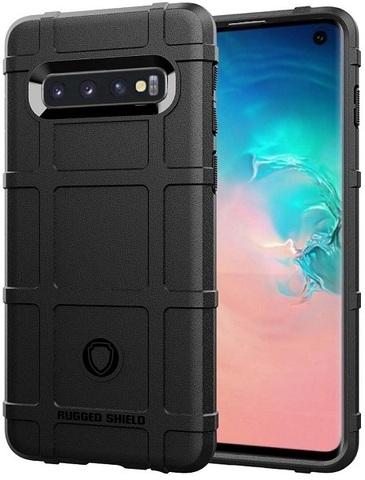 Чехол для Samsung Galaxy S 10 цвет Black (черный), серия Armor от Caseport