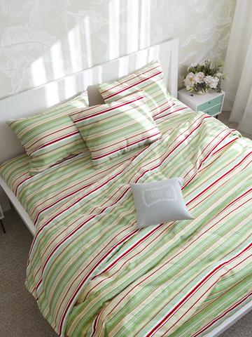 Простынь на резинке  -Восточная полоска- натяжная 90х200х26 см 1,5-спальная