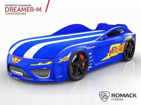 Кровать-машина Romack Dreamer Молния Синяя