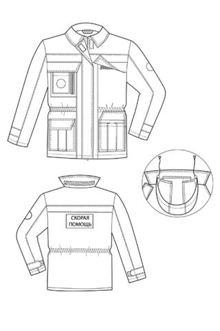 Выкройка костюма скорой помощи куртка технический рисунок