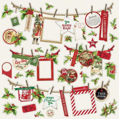 Стикеры 30х30 см. - Simple Vintage Christmas- Banners