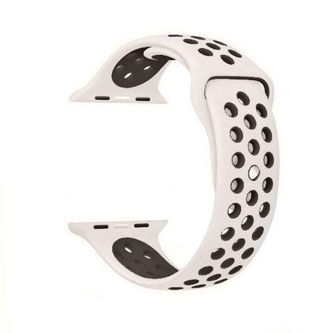 Ремешок Apple watch 38mm Sport Nike /antique white-black/