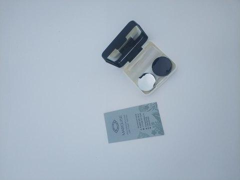 Черный  фирменный Travel box Marquise для хранения контактных и цветных линз