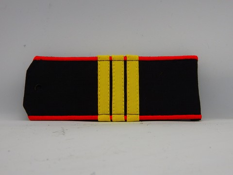 Погоны черные МП сержант с шелковым галуном (рип-стоп,на пластике)