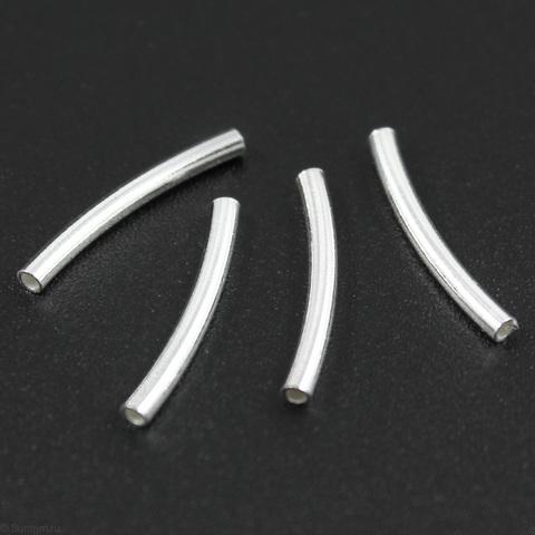 Бусина трубочка 15х1,5 мм серебро 925