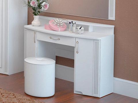 Стол туалетный Виктория 6 Ижмебель белый глянец