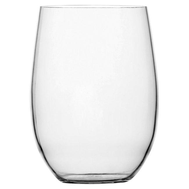 NON SLIP BEVERAGE GLASS, CLEAR 6 UN