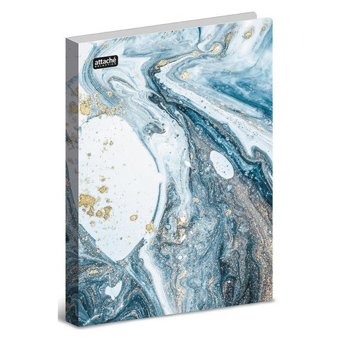 Папка с зажимом Attache Selection, Fluid, серо-голубая