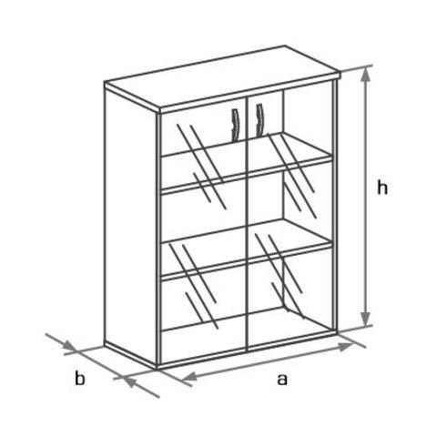 Шкаф со стеклянными дверцами БОСТОН