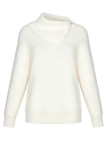 Женский свитер молочного цвета из мохера и кашемира - фото 1