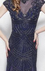 Rianna 1287 Платье полностью вышитое бисером. силуэт