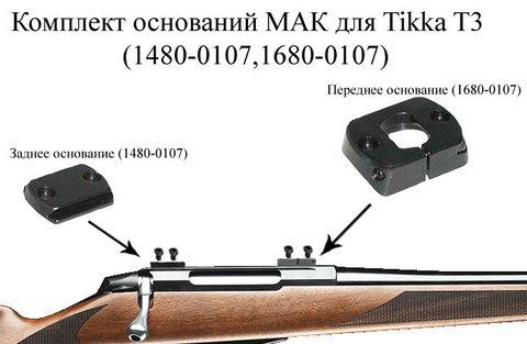 Основание МАК переднее для TIKKA T3(1680-0107)