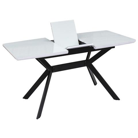 Стол Дайм белый глянец / опора №31 черная матовая / 110(140)х70 см