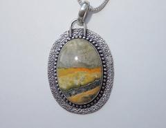 Ожерелье со шмелиной яшмой, 42 см