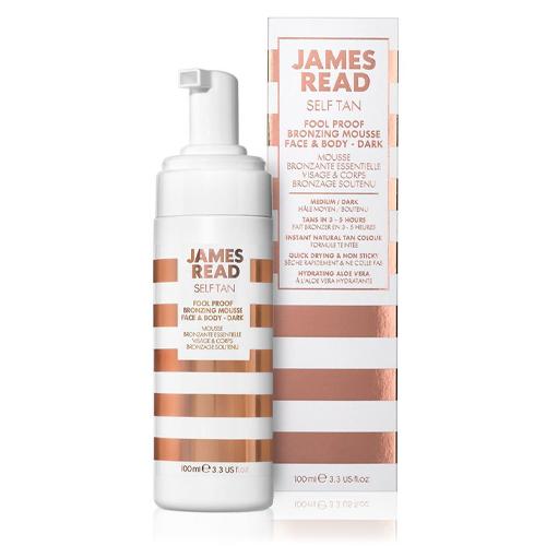 JAMES READ Мусс бронзирующий FOOL PROOF BRONZING MOUSSE FACE&BODY-DARK, 100 мл