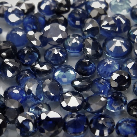 Темно-синий сапфир круг 3,2 мм