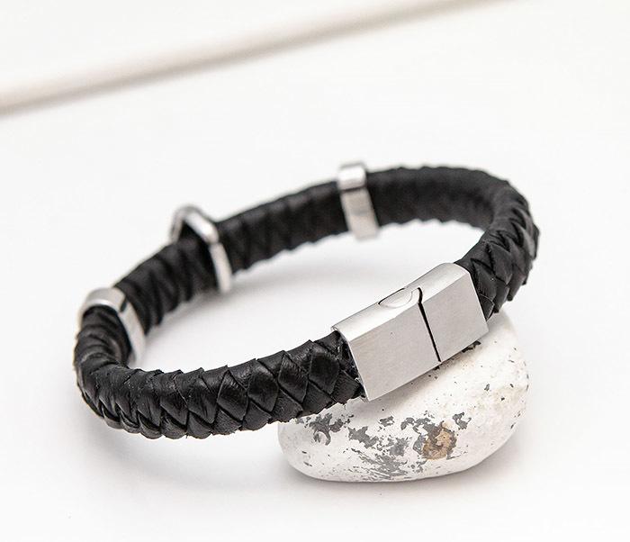 BL812-1 Мужской браслет с Буддой из кожаного шнура фото 06