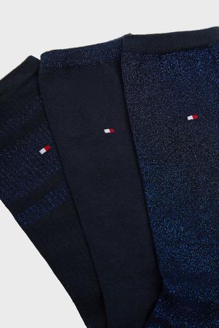 Женские темно-синие хлопковые носки (3 пары) Tommy Hilfiger