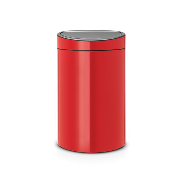 Мусорный бак Touch Bin New (40 л), Пламенно-красный, арт. 114960 - фото 1