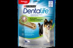 Лакомство для собак средних пород, Purina DentaLife Medium Standard, 5x115 г