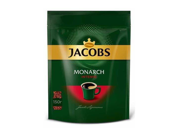Кофе растворимый Jacobs Monarch Intense, 150 г пакет