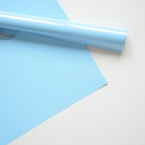 Термотрансферная пленка матовая, цвет: нежно-голубой, размер отреза  25х25 см