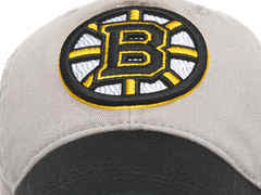Бейсболка NHL Boston Bruins серая (подростковая)