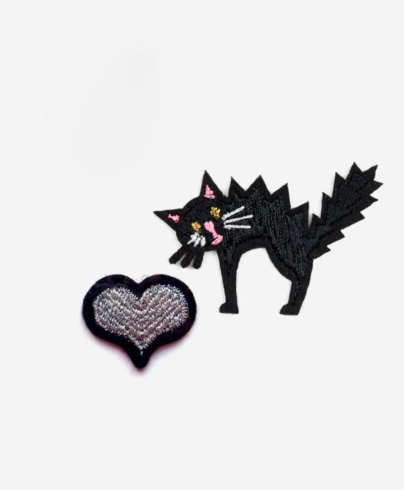 Набор из патчей-заплаток Love cats  и значка